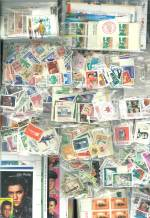 Accumulation of many thousands of MUH and MLH stamps, from a wide range of countries and periods, including many handy and highly catalogued items, numerous sets, miniature sheets and several booklets in shoebox. No Australian, with varying duplication and some faults.