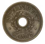 1941 Threepence WWII Internment Camps Token EF. Obverse legend shows